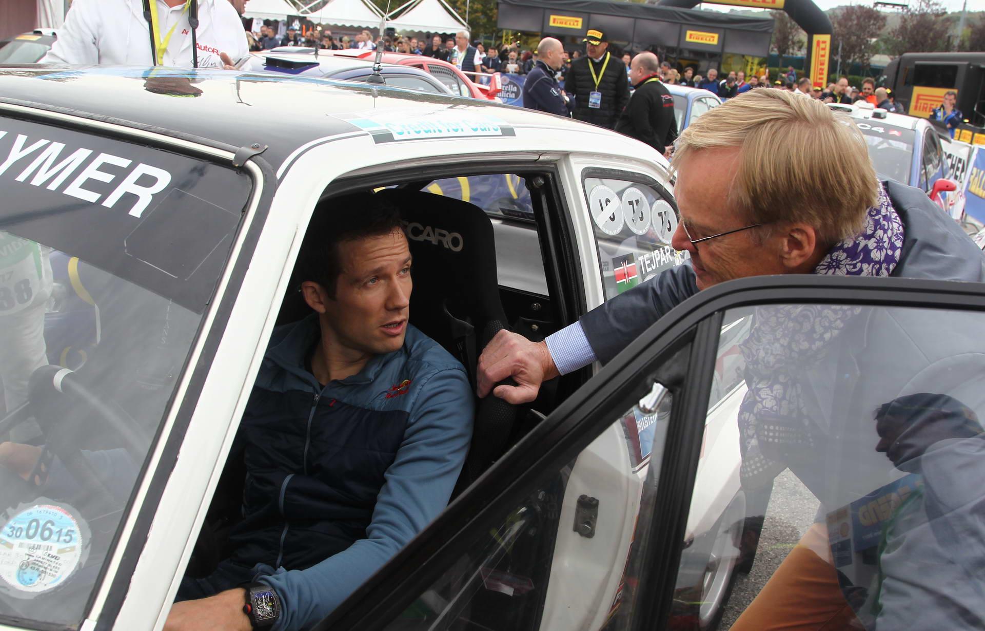 Με τον Sebastien Ogier, στο Rally Legend 2017, που ήταν αφιερωμένο στον Colin McRae