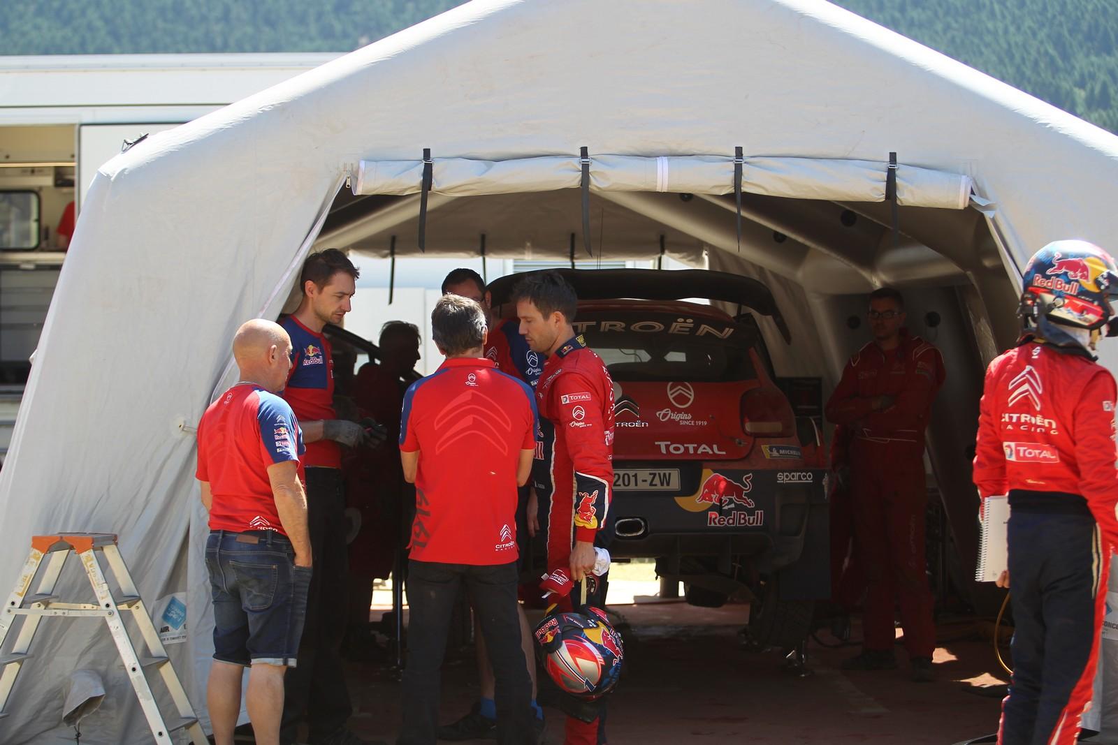WRC Citroen testing