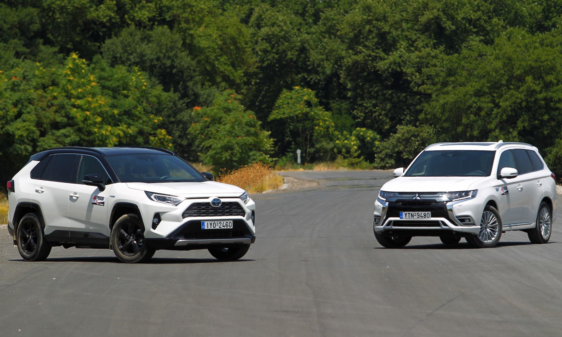 Mitsubishi Outlander PHEV – Toyota RAV4 Hybrid AWD-i