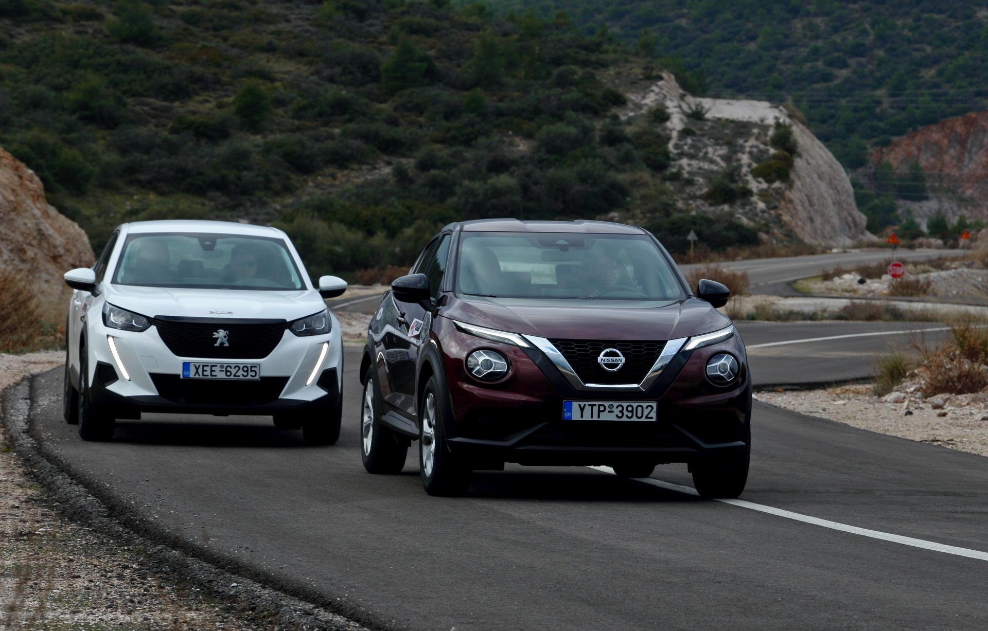Nissan Juke - Peugeot 2008