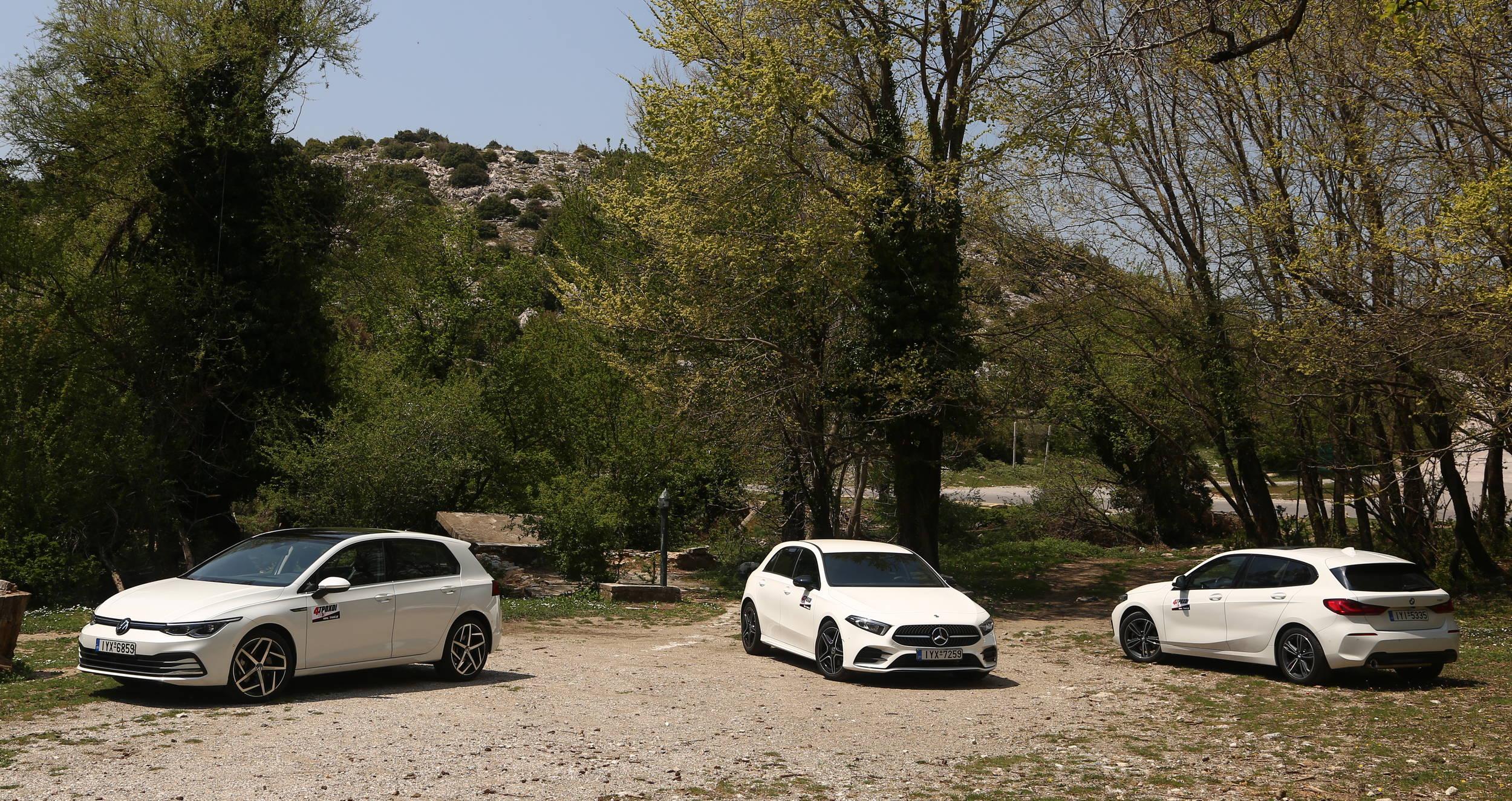 BMW 118i Auto - Mercedes A200 7G-DCT - VW Golf 1.5 eTSI 150 DSG