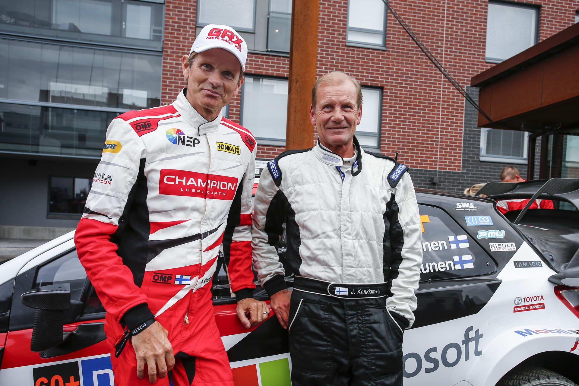 Marcus Gronholm-Juha Kankkunen: 6 Παγκόσμια Πρωταθλήματα και 10 νίκες στο Ράλλυ Φινλανδίας, σε μια φωτογραφία
