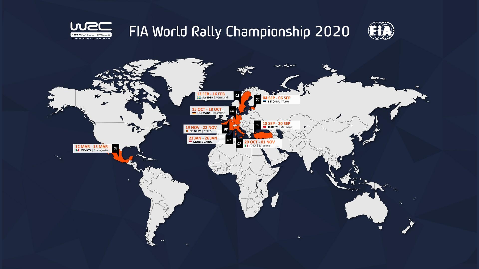 Program 2020 WRC