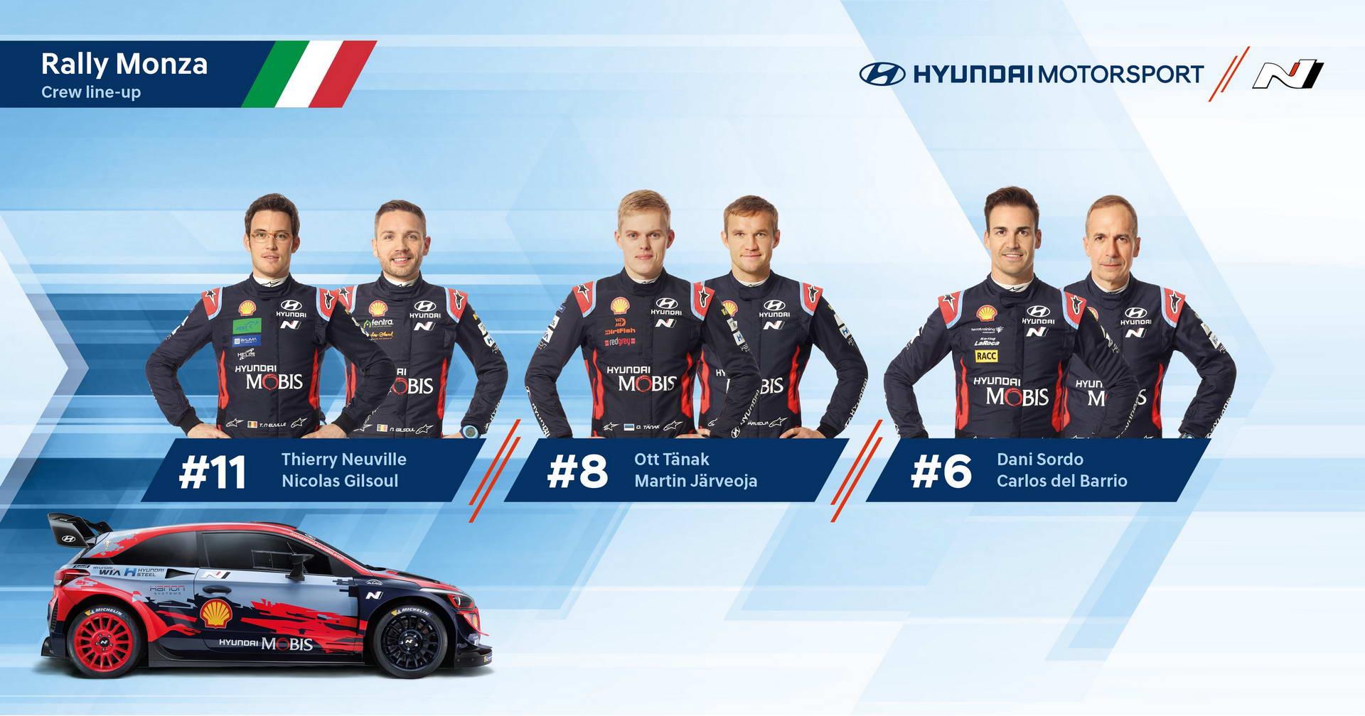 Monza Rally - Hyundai Lineup