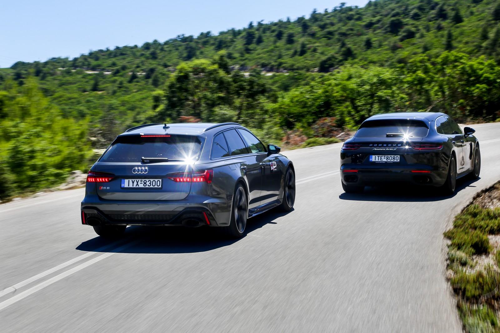 Οδηγούμε Audi RS 6 & Porsche Panamera S E-Hybrid Sport Turismo