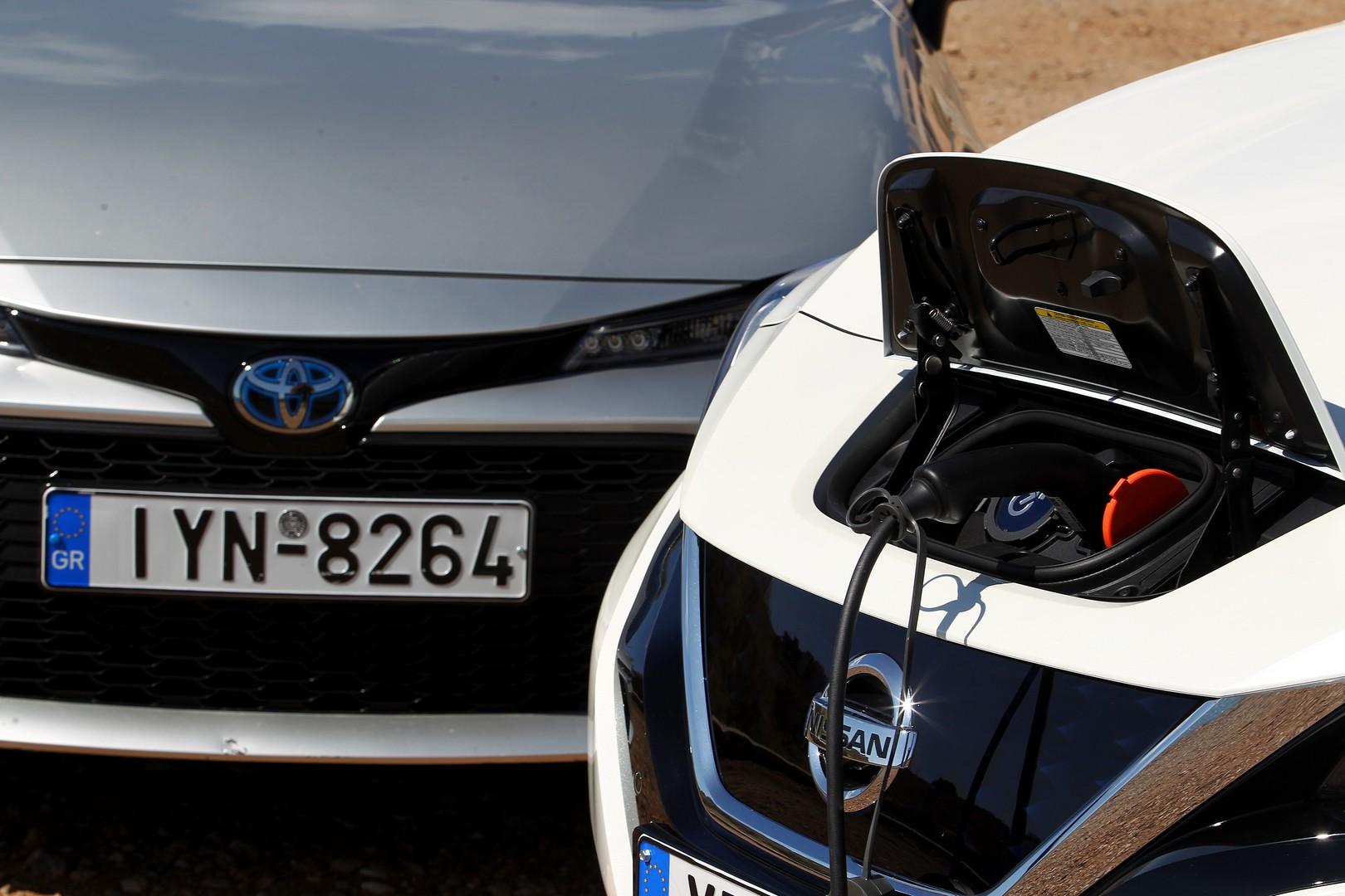 Nissan Leaf e+ - Toyota Corolla 1.8 Hybrid