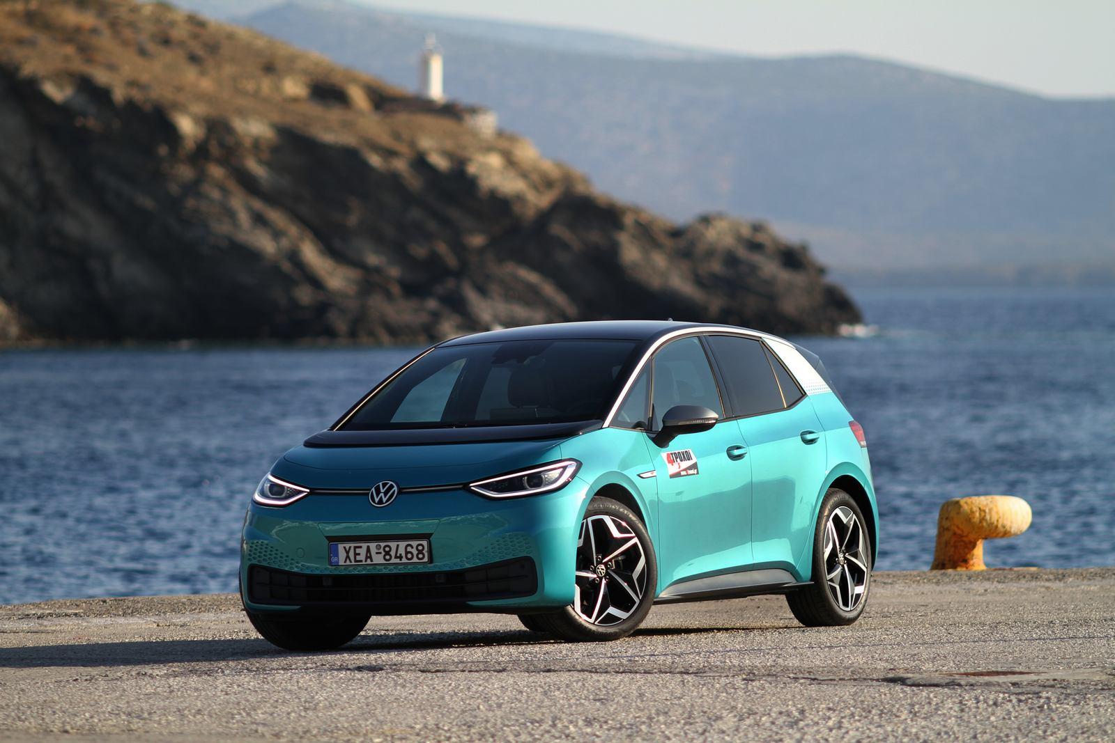 """Με το VW ID.3 στην Αστυπάλαια, στο """"πράσινο & έξυπνο νησί""""."""