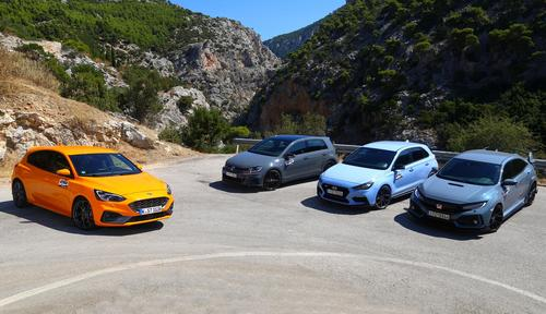 Ford Focus ST - Honda Civic Type R - Hyundai i30 N - VW Golf GTI TCR