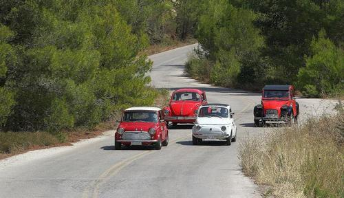 VW BEETLE - CITROEN 2CV - FIAT 500 - BRITISH LEYLAND MINI