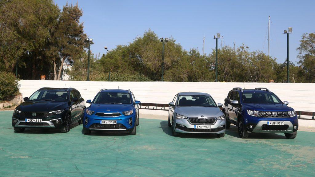 Fiat Tipo Cross - Kia Stonic 48V, Skoda Scala CNG, Dacia Duster LPG 01