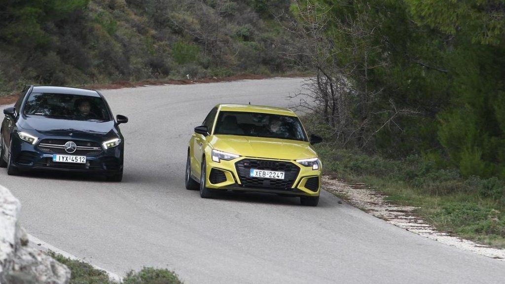 Audi S3 vs Mercedes-AMG A35 4ΜΑΤIC turn