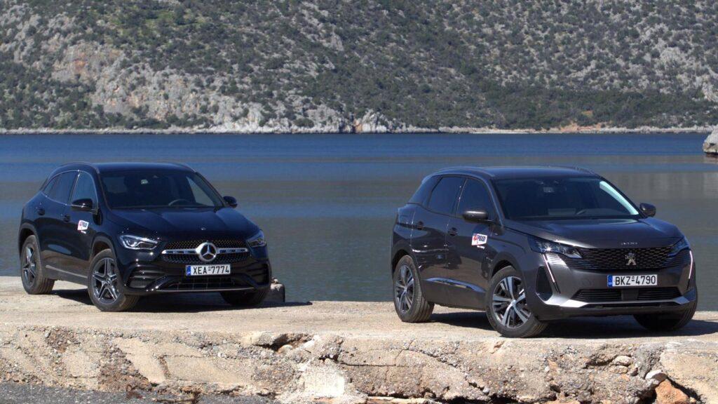 Mercedes-GLA-250-e-vs-Peugeot-3008-Hybrid-225