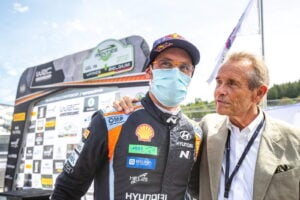 Thierry Neuville and Jackie Ickx