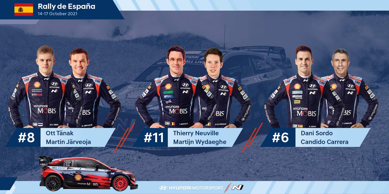 Hyundai Rally de Espana WRC Lineup