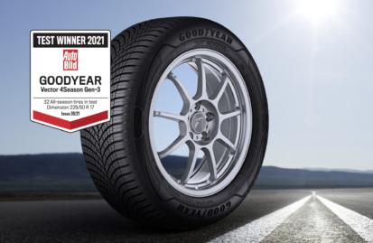 Το Goodyear Vector 4Seasons Gen-3 αναδείχθηκε νικητής στη δοκιμή ελαστικών 4 εποχών του Auto Bild